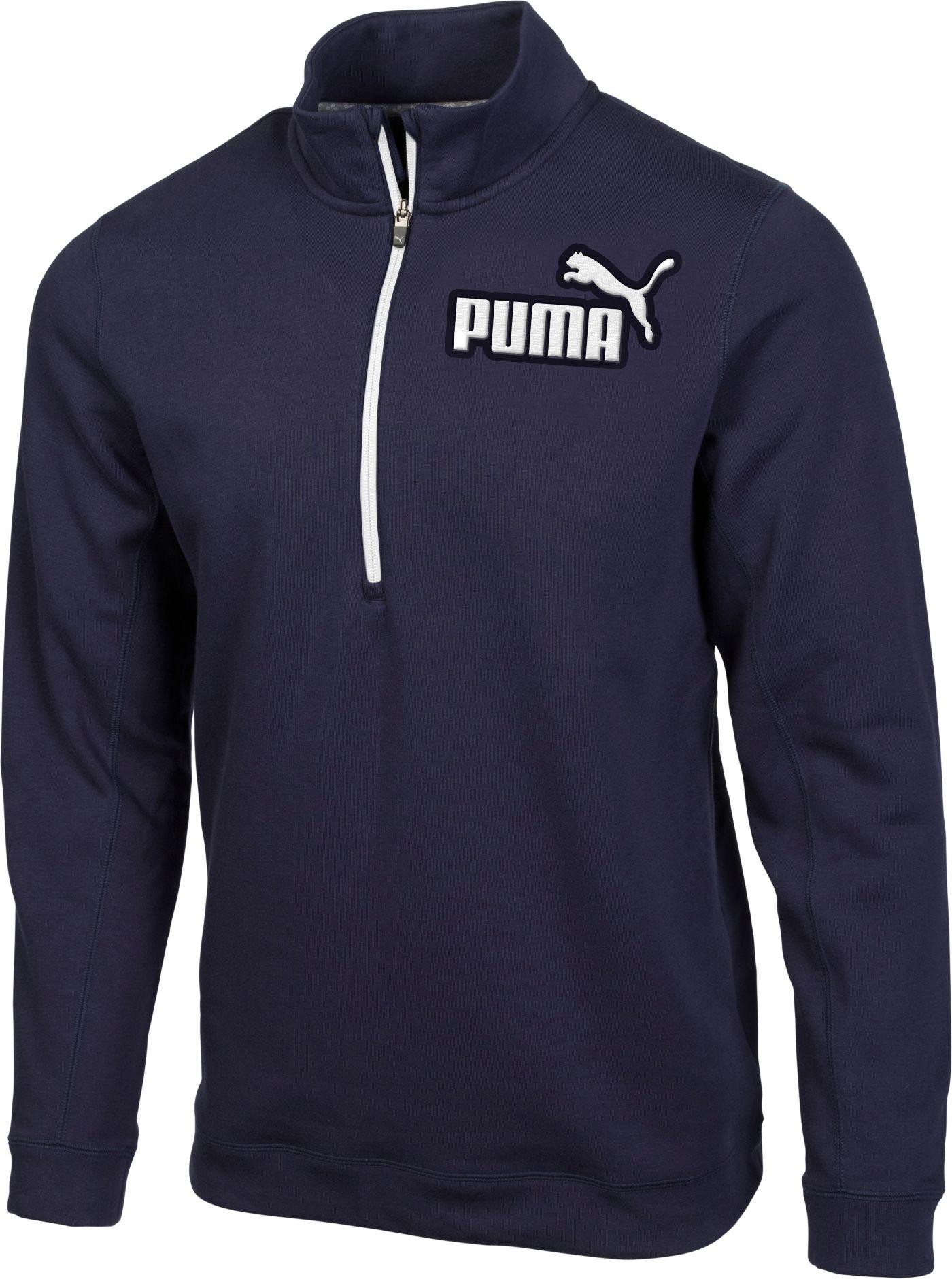 PUMA Men's Logo 1/4 Zip Golf Jacket