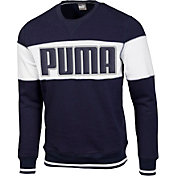 PUMA Men's Logo Crew Golf Sweatshirt