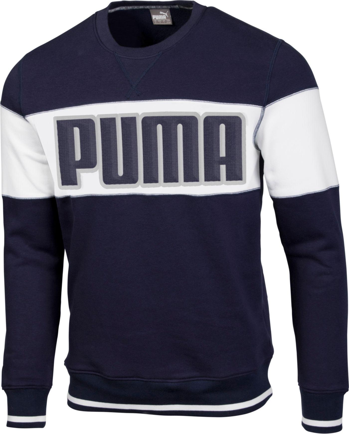 PUMA Men's Logo Crew Golf Sweatshirt