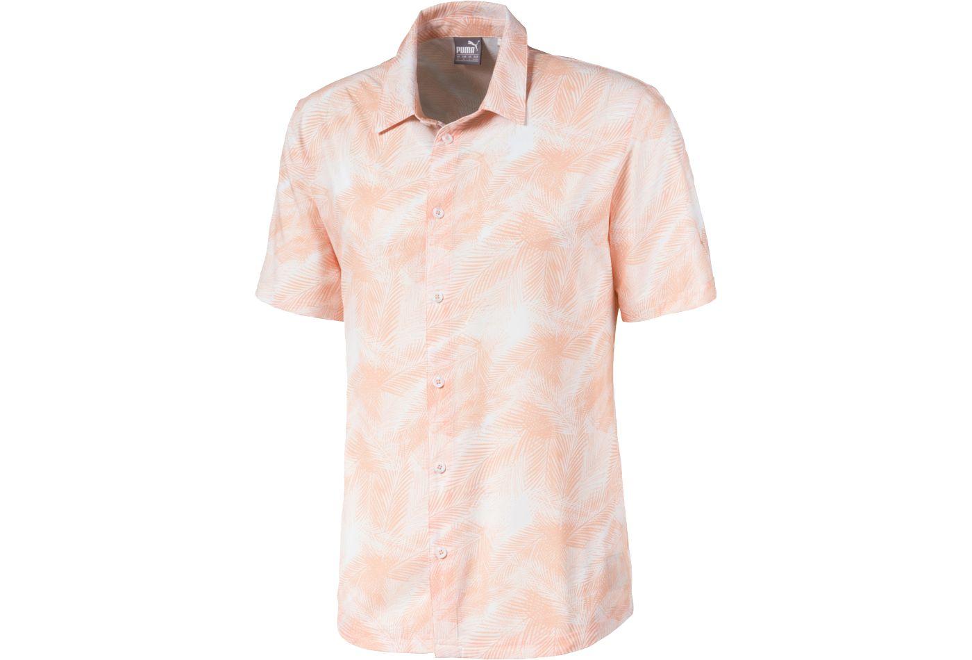 PUMA Men's Palms Button Down Golf Shirt