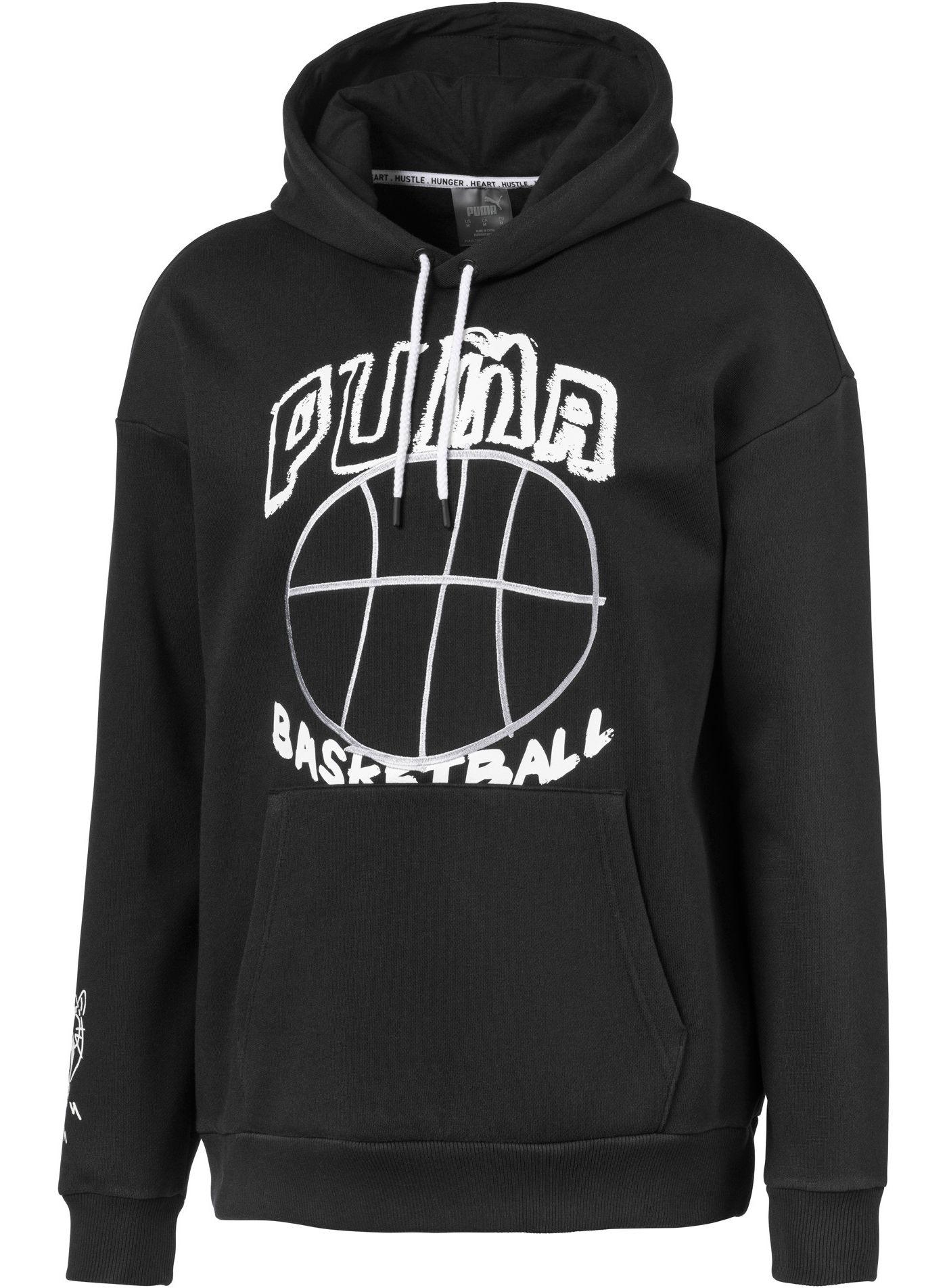 PUMA Men's Hoops Pass The Rock Graphic Basketball Hoodie