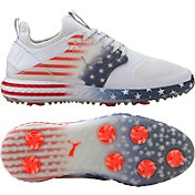PUMA Men's Limited Edition IGNITE PWRADAPT Caged Stars and Stripes Golf Shoes