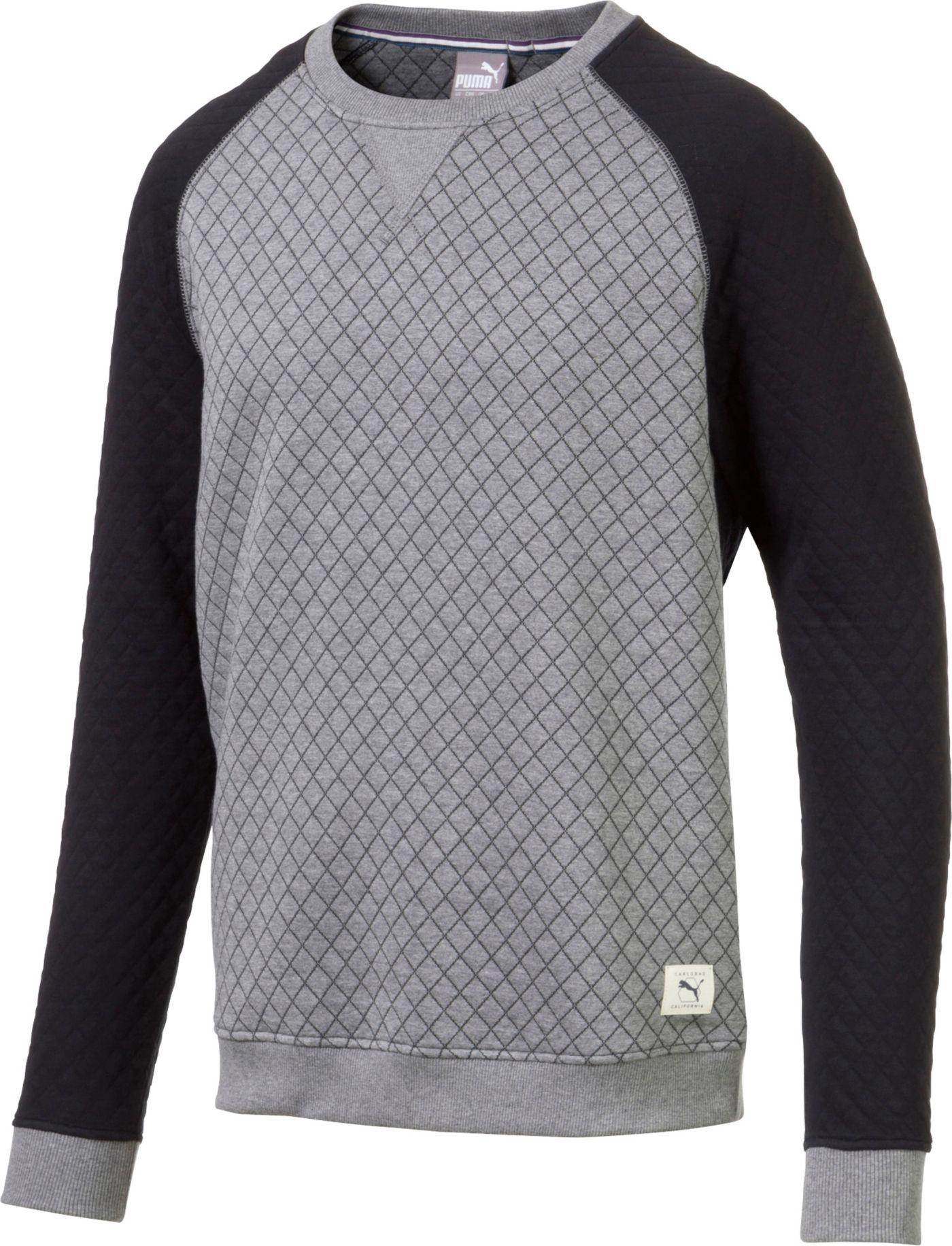 PUMA Men's Quilted Crew Neck Golf Sweater