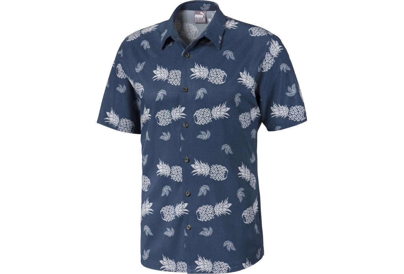 PUMA Men's Islands Button Down Golf Shirt