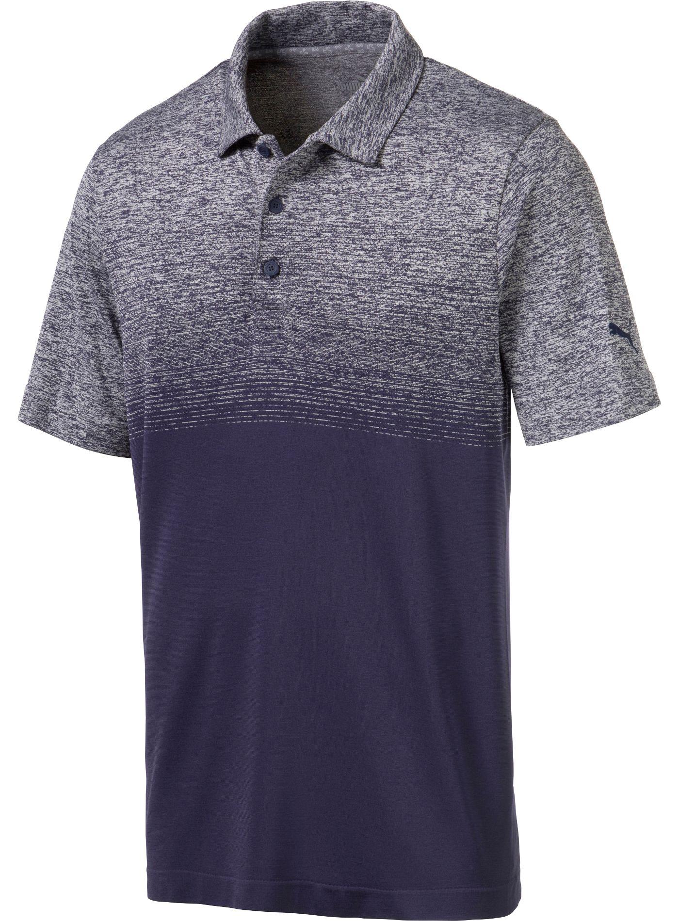 PUMA Men's Evoknit Ombre Golf Polo