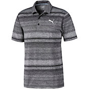 PUMA Men's Variegated Stripe Short Sleeve Golf Polo