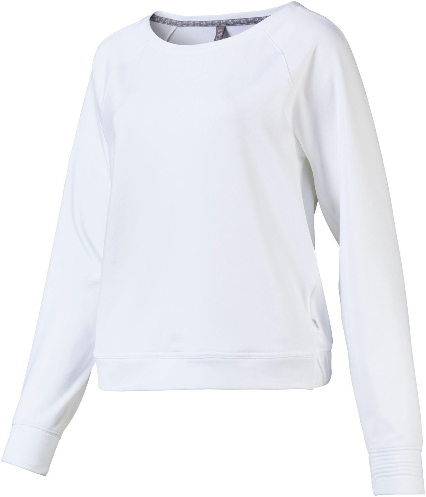 PUMA Women's Fleece Crew Golf Pullover