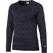 PUMA Women's Crew Neck Long Sleeve Golf Sweater