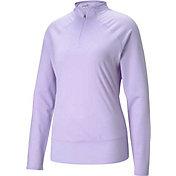 PUMA Women's Mesh ¼-Zip Golf Pullover