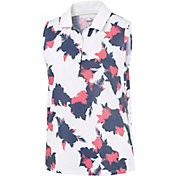 PUMA Women's Floral Sleeveless Golf Polo