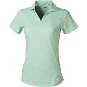 PUMA Women's Heather Slub Short Sleeve Golf Polo