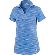 PUMA Women's Heather Slub Short Sleeve Golf Polo