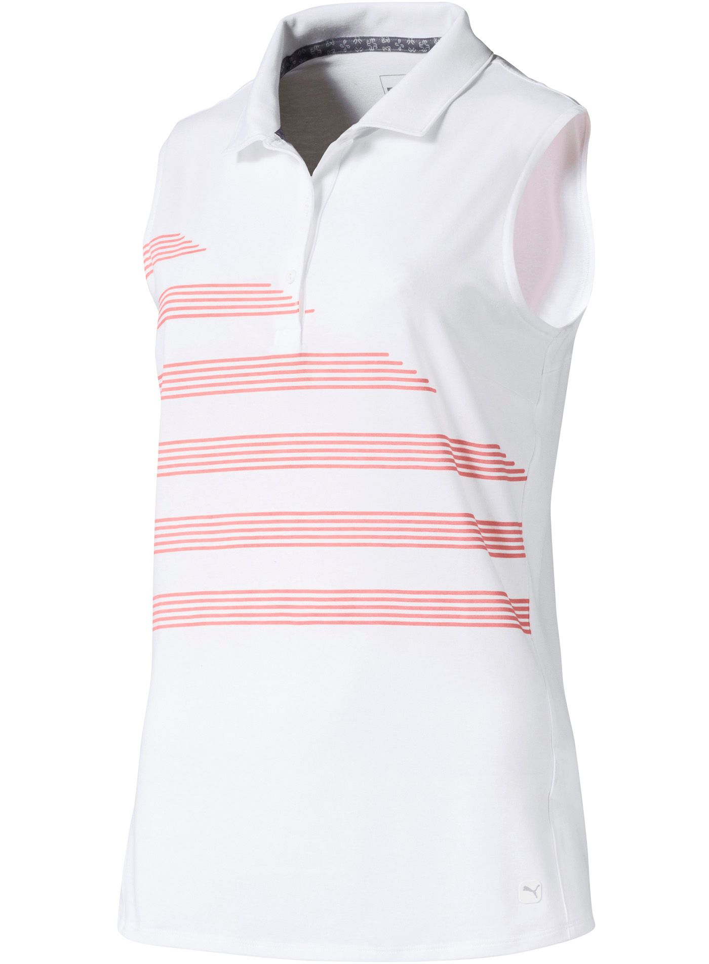 PUMA Women's Step Stripe Sleeveless Golf Polo