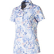 PUMA Women's Floral Stripe Golf Polo