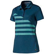 PUMA Women's Step Stripe Golf Polo