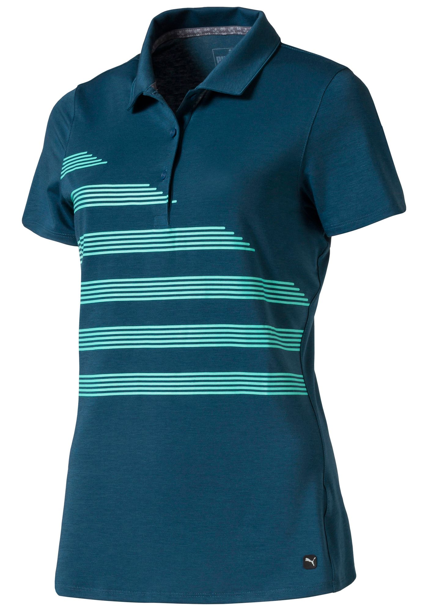 PUMA Women's Step Stripe Golf Polo