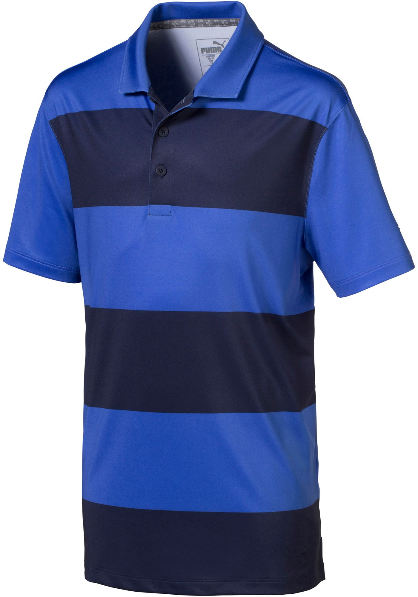 PUMA Boys' Rugby Stripe Golf Polo