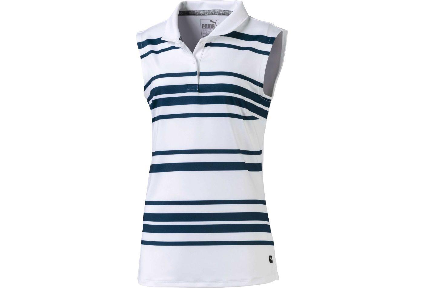 PUMA Girls' Stripe Sleeveless Golf Polo