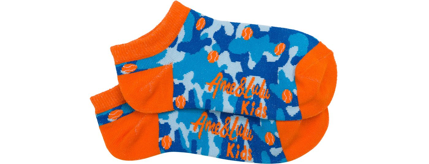 Ame & Lulu Girls' Happy Feet Tennis Socks