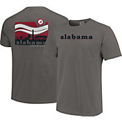 Image One Men's Alabama Crimson Tide Grey Campus Scene Waves T-Shirt