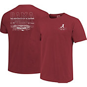 Image One Men's Alabama Crimson Tide Crimson Football T-Shirt