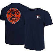 Image One Men's Auburn Tigers Blue State Flag Circle T-Shirt