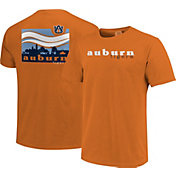 Image One Men's Auburn Tigers Orange Campus Scene Waves T-Shirt