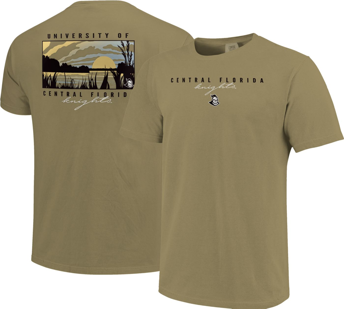 Image One Men's UCF Knights Tan River Scene T-Shirt