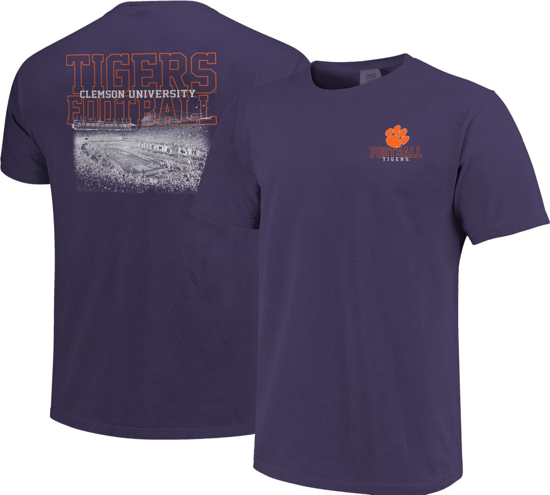 new product efe2d 75502 Image One Men's Clemson Tigers Purple Football T-Shirt