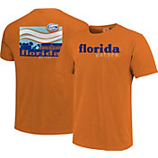 Image One Men's Florida Gators Orange Campus Scene Waves T-Shirt