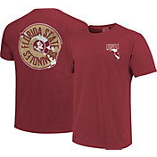Image One Men's Florida State Seminoles Garnet State Flag Circle T-Shirt