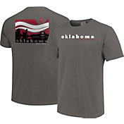 Image One Men's Oklahoma Sooners Grey Campus Scene Waves T-Shirt