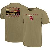 Image One Men's Oklahoma Sooners Tan River Scene T-Shirt