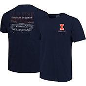 Image One Men's Illinois Fighting Illini Blue Football T-Shirt