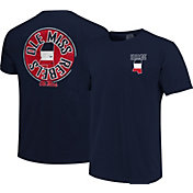 Image One Men's Ole Miss Rebels Blue State Flag Circle T-Shirt