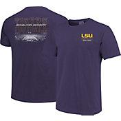 Image One Men's LSU Tigers Purple Football T-Shirt
