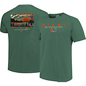 Image One Men's Miami Hurricanes Green River Scene T-Shirt