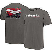 Image One Men's Nebraska Cornhuskers Grey Campus Scene Waves T-Shirt