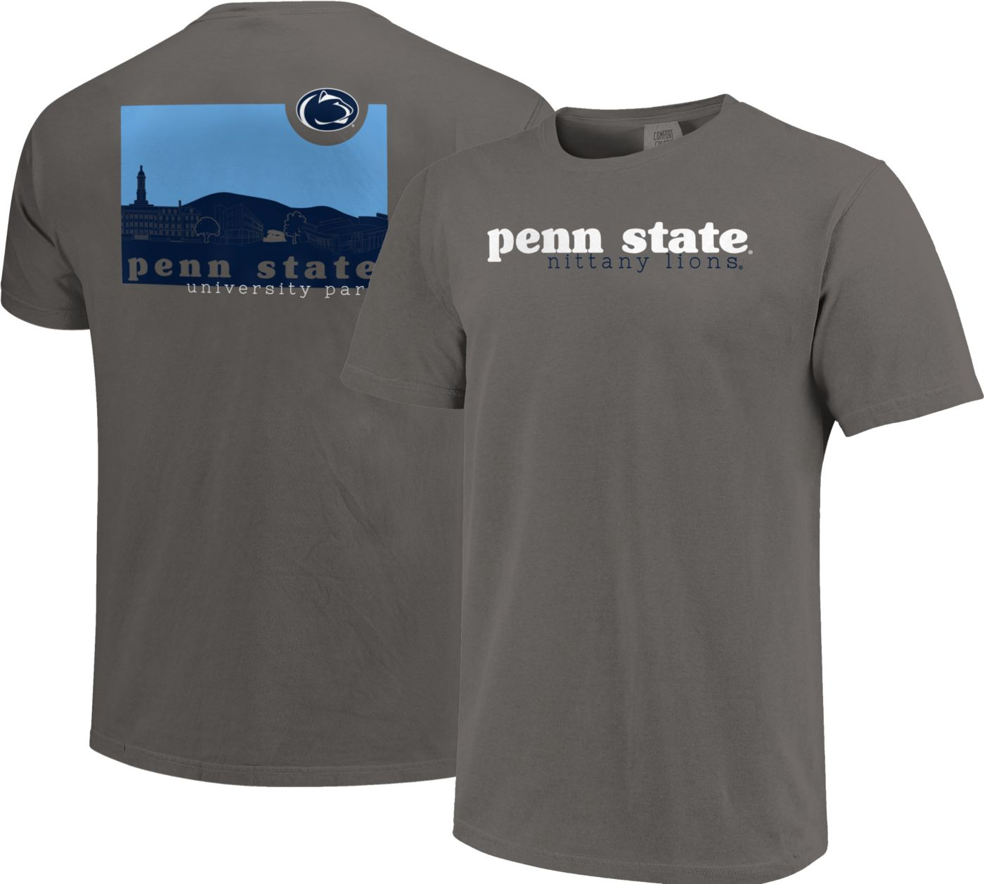 Image One Men's Penn State Nittany Lions Grey Campus Scene Waves T-Shirt