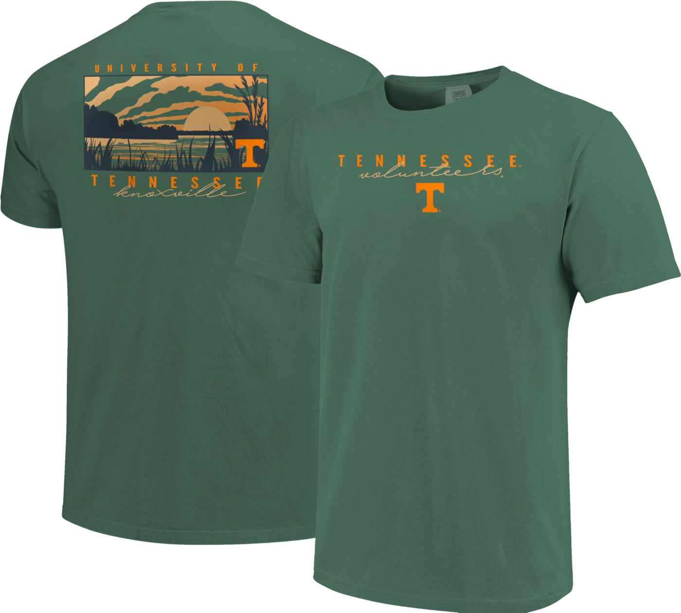 Image One Men's Tennessee Volunteers Green River Scene T-Shirt