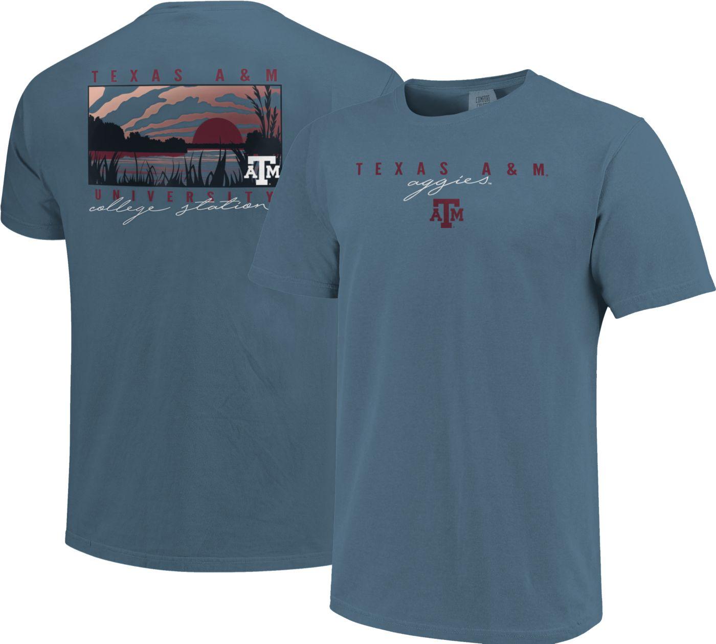 Image One Men's Texas A&M Aggies Blue River Scene T-Shirt