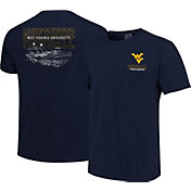Image One Men's West Virginia Mountaineers Blue Football T-Shirt
