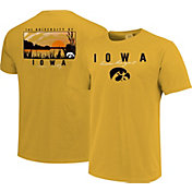 Image One Men's Iowa Hawkeyes Gold River Scene T-Shirt
