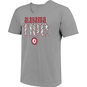 Image One Women's Alabama Crimson Tide Grey Large Type Pattern T-Shirt