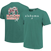 Image One Women's Alabama Crimson Tide Seafoam Green Bar Script T-Shirt