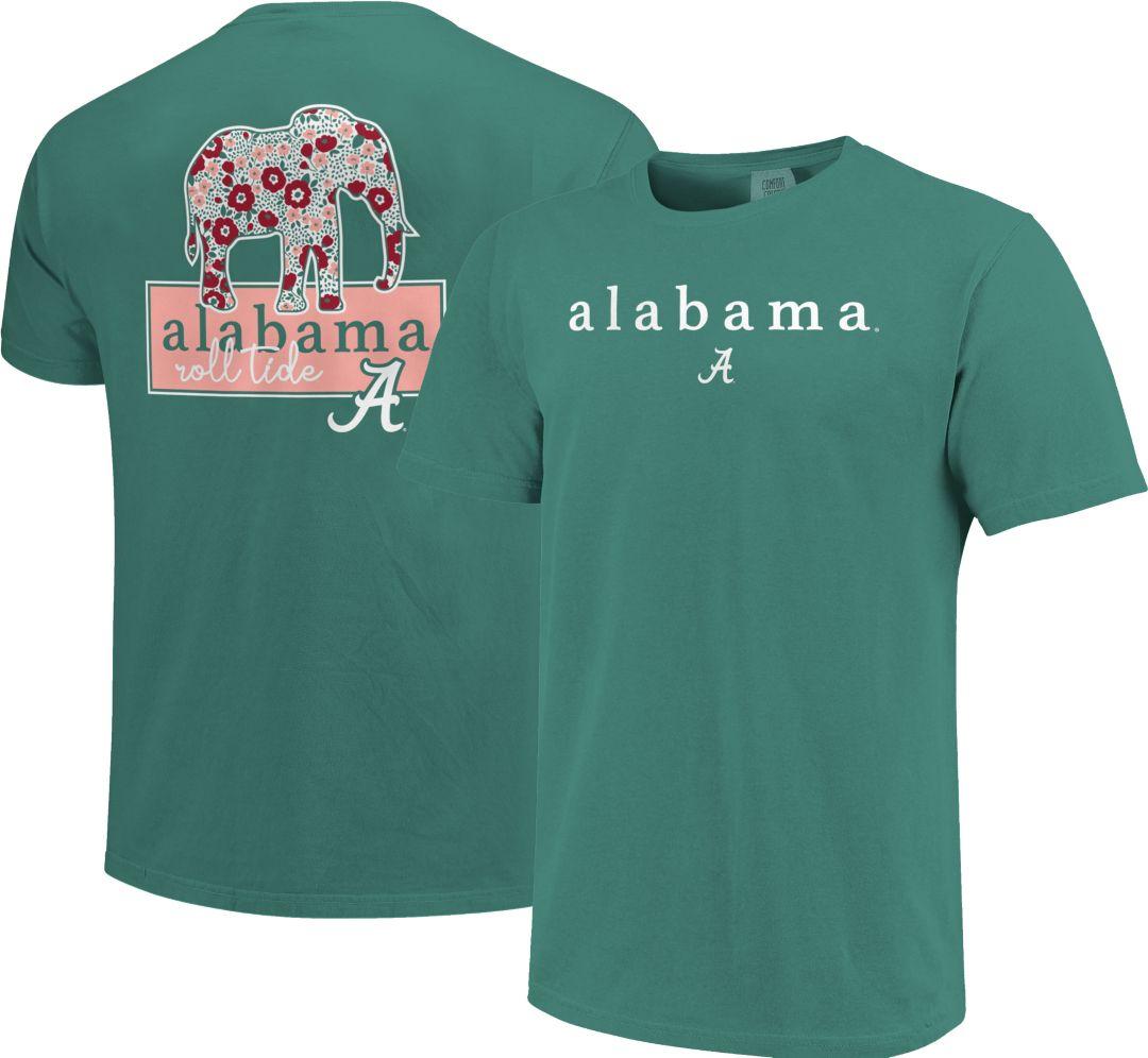more photos 746fd 80aa5 Image One Women's Alabama Crimson Tide Seafoam Green Bar Script T-Shirt