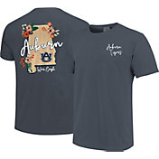 Image One Women's Auburn Tigers Blue Floral State T-Shirt