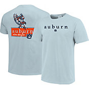 Image One Women's Auburn Tigers Light Blue Bar Script T-Shirt