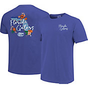 Image One Women's Florida Gators Blue Floral State T-Shirt
