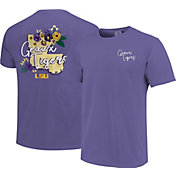 Image One Women's LSU Tigers Purple Floral State T-Shirt